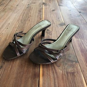 Nine West Brown Leather Strappy Sandal